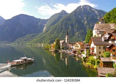 Austrian lakeside village of Hallstatt, a UNESCO World Heritage Site