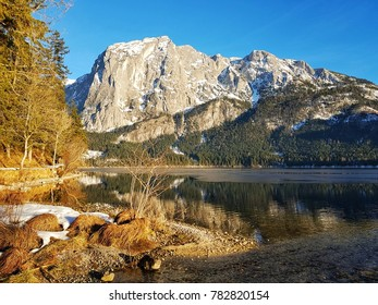 austrian mountains with lake