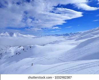 Austrian ski resort in winter