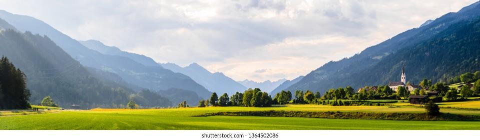 Austrian valley, Tirol, Alps in summer