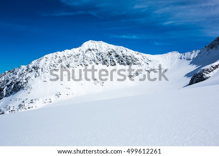 Austrias largest glacier skiing