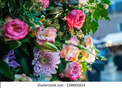 Autdoor autumn floral decoration