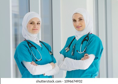 Authentic Confident Middle Eastern Healthcare Workers