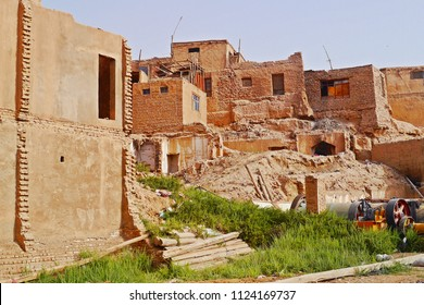 The authentic demolished old building in Kashgar old town, Xinjiang, China.