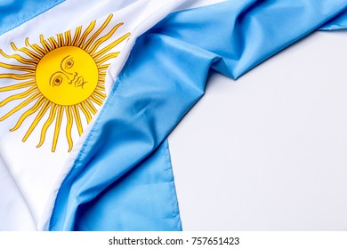 Authentic flag of the Argentina