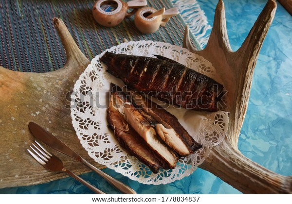 Authentic food is comfort food - smoked white fish of Lapland in Finland