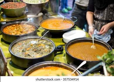 authentic indian cuisine on a buffet