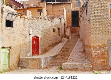 The authentic Kashgar Old Town street view demolished for the new urban development, Xinjiang, China