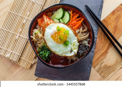 Authentic Korean Cuisine vegetarian cold Bibimbap
