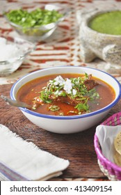 Authentic mexican beef stew, birria Jalisco style