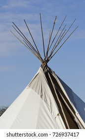 An authentic Native American teepee has been erected on the grounds of Mission San Juan in San Antonio, Texas.
