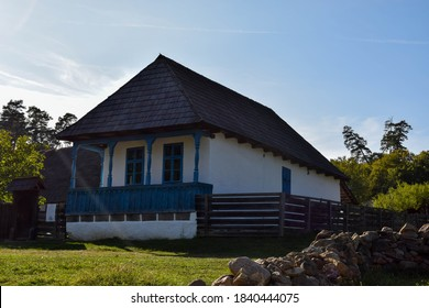 Authentic old house of Romanian popular culture. The house with a shingle roof or