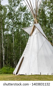 An authentic Tee-pee from Native North Americans, Elk Island National Park, Alberta, Canada