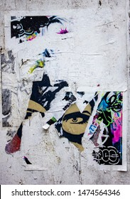 Authentic Urban Grunge, Ripped, Torn Vintage Street Posters. Street Wall Texture - Image