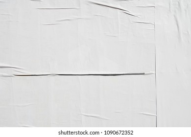 authentic wrinkled creased basic original paper poster billboard
