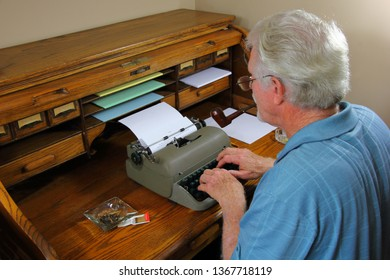 Author Writing His Novel