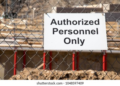 Authorized Personnel Only sign on a construction site