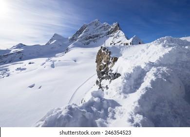 autiful snow mountain in Switzerland