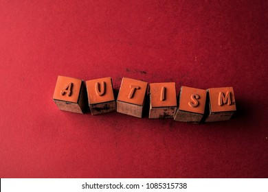 Autism headline made by letter printers