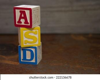 Autism Spectrum Disorder (ASD) vertical blocks