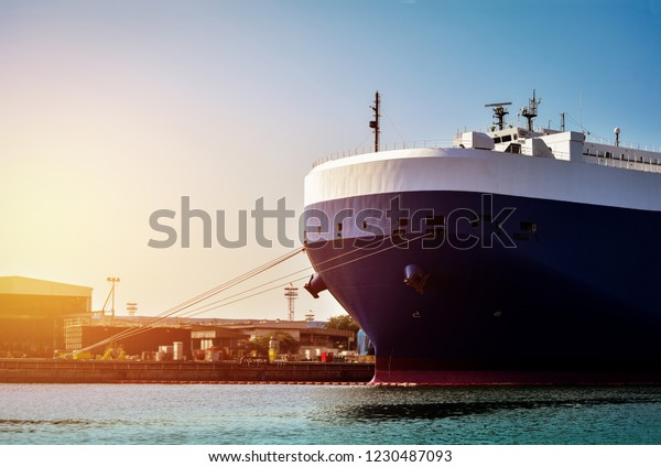 Auto Car Carrier Ship Car Shipping Stock Photo (Edit Now