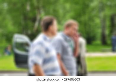Auto car fleet dealer show theme blur background with bokeh effect