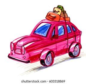 Auto cartoon icon Picture