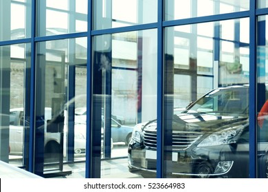 Auto dealership building