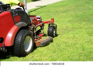 Auto Lawn Mower. Lawn Care. Riding Mower. Grass