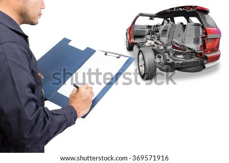 auto mechanic repairing record cross section stock photo edit now