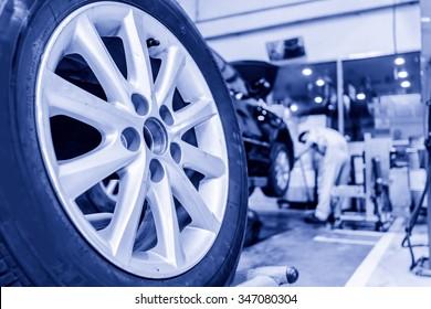 Auto repair factory