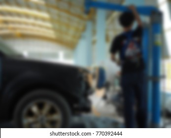Auto service. Abstract image. Blurry
