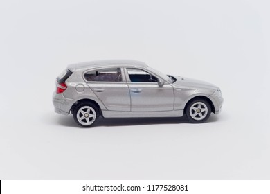 Auto toy in white on a white background