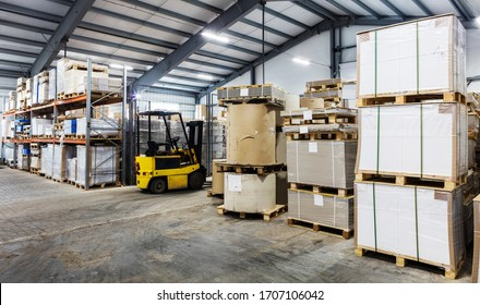 autoloader in large modern warehouse