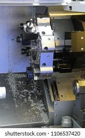 Automated Cnc Metal Lathe Head Machine Tool