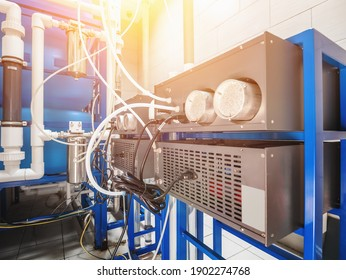 Automated computerized ozone generator machine for ozonation of pure clean drinking water in water production factory - Shutterstock ID 1902274768
