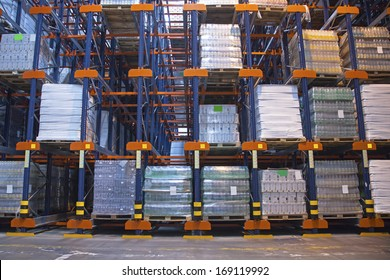 Automated storage with high shelving system