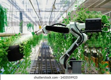 Roboterarmbeutelbaum mit automatischer Landtechnik