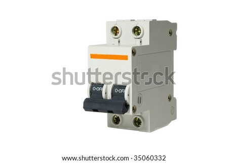 automatic circuit breaker closeup isolated on stock photo edit now rh shutterstock com