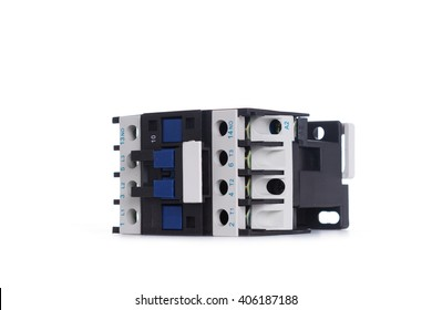 Automatic circuit breaker, isolated on a white background..
