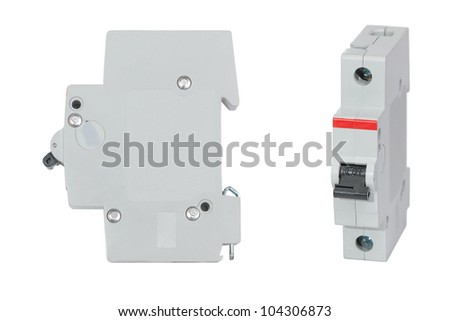 automatic circuit breaker isolated on white stock photo edit now rh shutterstock com