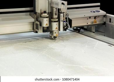 Automatic CNC fiberglass laser cutting machine in factory
