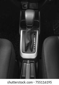 Automatic gear shift in car.