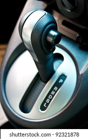 automatic gear shift of a compact car