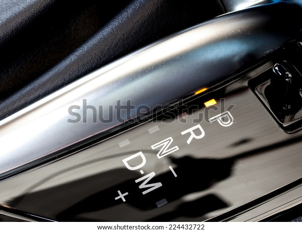 Automatic Gear Shift Position Indicator Car Stock Photo