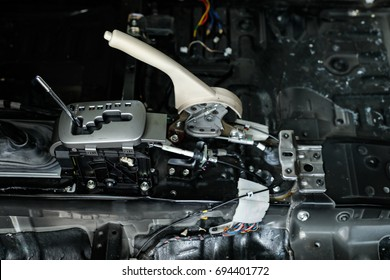 Automatic gearbox. Automatic Transmission. Automatic transmission gear shift. Automotive transmission gearbox.