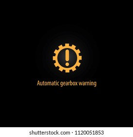 Automatic gearbox warning background