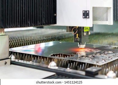 Automatic & high precision cnc plasma laser cutting machine during engrave or perforate workpiece steel plate at factory or work shop
