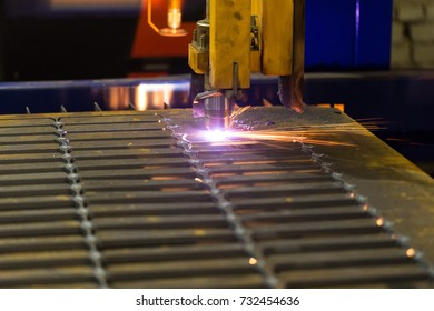 Automatic machine cuts with a laser beam, plasma, a burning gas steel. So make workpiece at an engineering plant.