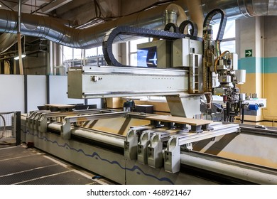 automatic robot at a furniture factory